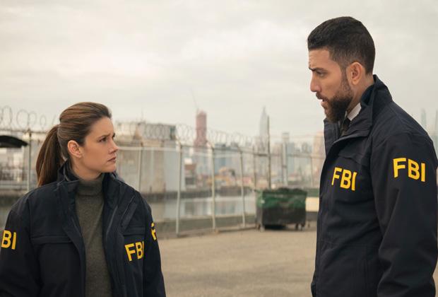 Missy Peregrym with Josh Segarra in FBI