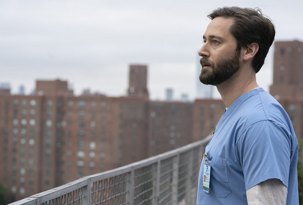 "NEW AMSTERDAM -- ""The New Normal"" Episode 301 -- Pictured: Ryan Eggold as Dr. Max Goodwin -- (Photo by: Virginia Sherwood/NBC)"
