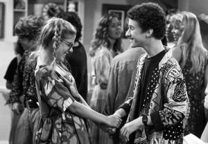 Saved by the Bell - Tori Spelling, Dustin Diamond as Screech and Violet