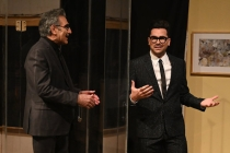 SNL: Schitt's Creek's Dan Levy Visited by Socially Distanced Dad Eugene During Monologue -- Watch