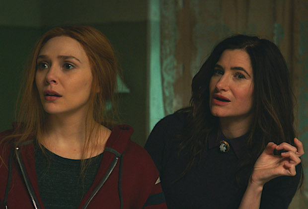 (L-R): Elizabeth Olsen as Wanda Maximoff and Kathryn Hahn as Agatha Harkness in Marvel Studios' WANDAVISION exclusively on Disney+. Photo courtesy of Marvel Studios. ©Marvel Studios 2021. All Rights Reserved.