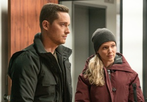 Jesse Lee Soffer with Tracy Spiridakos in Chicago P.D.