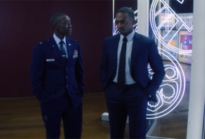 Don Cheadle and Anthony Mackie in The Falcon and the Winter Soldier