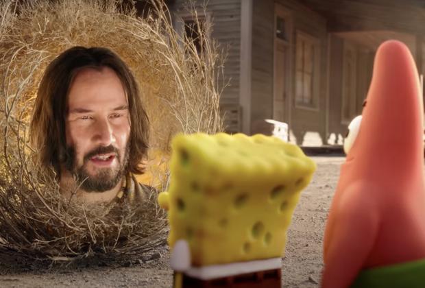 Keanu Reeves in SpongeBob Movie: Sponge on the Run