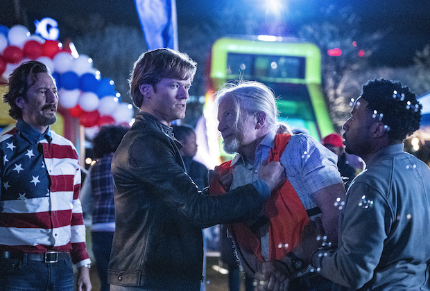 """Abduction + Memory +Time +Fireworks + Dispersal"" -- Coverage of the CBS series MacGyver, scheduled to air on the CBS Television Network. Photo: Nathan Bolster/CBS ©2021 CBS Broadcasting, Inc. All Rights Reserved."