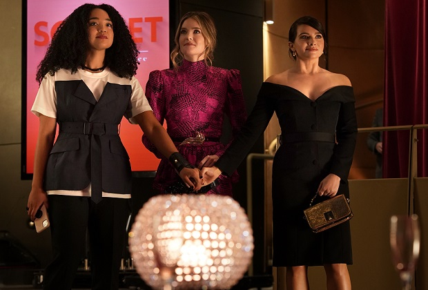 "THE BOLD TYPE - In the final season of ""The Bold Type,"" our trio is on the brink of defining who they really are and how to best leave their mark on the world. Their futures are bright, and their love and support of each other will never change. (Freeform/Jonathan Wenk) AISHA DEE, MEGHANN FAHY, KATIE STEVENS"