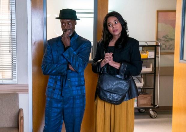 Don Cheadle and Regina Hall in Black Monday Season 3