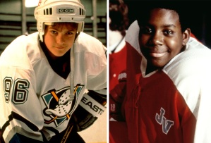 Joshua Jackson and Kenan Thompson in The Mighty Ducks films
