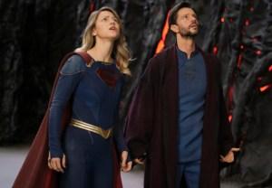 Melissa Benoist and Jason Behr in Supergirl Season 6
