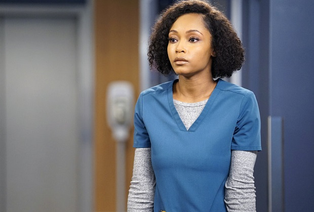 "CHICAGO MED -- ""For The Want Of A Nail"" Episode 609 -- Pictured: Yaya DaCosta as April Sexton -- (Photo by: Elizabeth Sisson/NBC)"