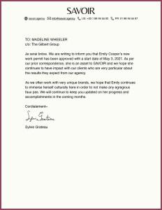 Emily in Paris Letter