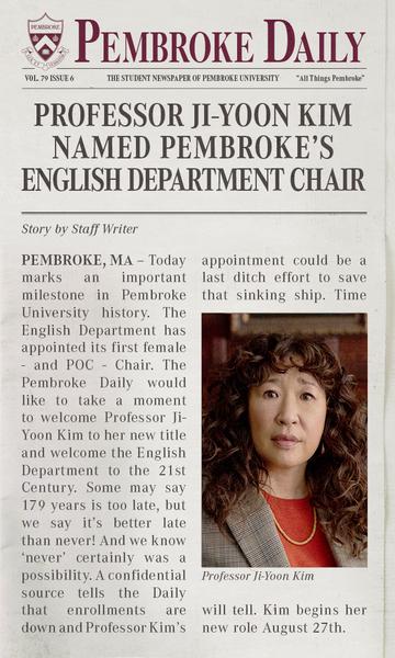 The Chair Netflix Sandra Oh
