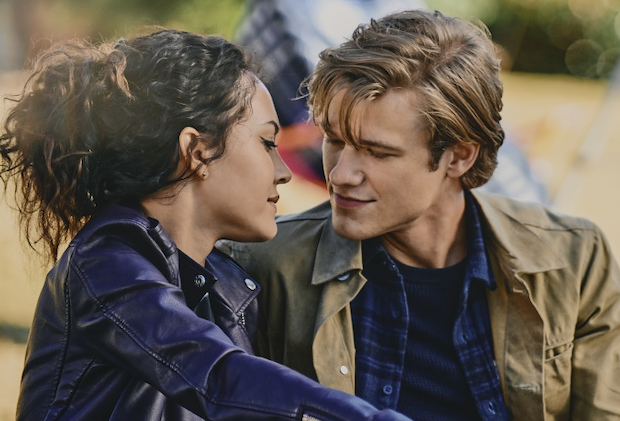 """""""Eclipse + USMC-1856707 + Step Potential + Chain Lock + Ma"""" – When Russ is kidnapped, Mac and the team must break out a previously murderous psychopath, now pacifist, from prison to help find him. Also, while on the run, Mac and Desi are forced to confront their relationship issues, on MACGYVER, Friday, Dec. 18 (8:00-9:00 PM, ET/PT) on the CBS Television Network. Joe Pantoliano guest stars as Eric Andrews, a murderous psychopath who has found peace and changed his ways. Pictured:  Tristin Mays as Riley Davis, Lucas Till as Angus """"Mac"""" MacGyver. Photo: Tom Griscom/CBS ©2020 CBS Broadcasting, Inc. All Rights Reserved."""