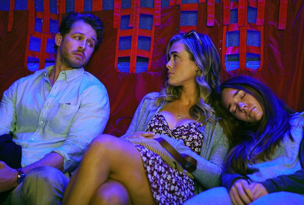 """MANIFEST -- """"Tailfin"""" Episode 301 -- Pictured: (l-r) Josh Dallas as Ben Stone, Melissa Roxburgh as Michaela Stone, Holly Taylor as Angelina -- (Photo by: Peter Kramer/WBTV/NBC)-- (Photo by: Peter Kramer/WBTV/NBC)"""