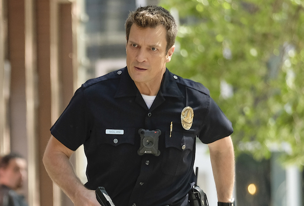 "THE ROOKIE - ""Threshold"" – Officer Nolan mildly injures himself while chasing down a shoplifter and the local DA wants to charge the suspect with assault despite Nolan's wishes. Meanwhile, Lucy goes undercover, Lopez' wedding venue is seized by the FBI and Nolan meets his new neighbor on the season finale of ""The Rookie,"" SUNDAY, MAY 16 (10:00-11:00 p.m. EDT), on ABC. (ABC/Erica Parise) NATHAN FILLION"