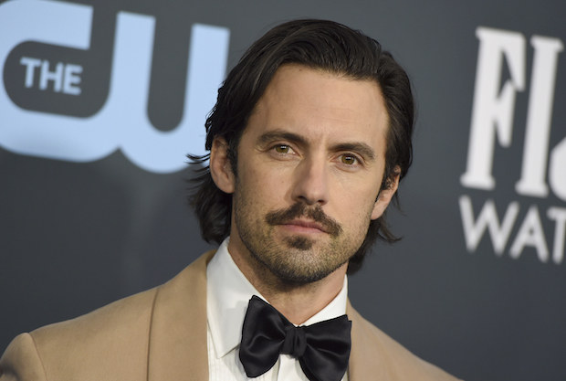 FILE - In this Jan. 12, 2020 file photo, Milo Ventimiglia arrives at the 25th annual Critics' Choice Awards at the Barker Hangar in Santa Monica, Calif.  Ventimiglia will serve as honorary starter for the 105th Indianapolis 500 presented by Gainbridge, waving the green flag and sending the field of 33 NTT INDYCAR SERIES drivers on their epic quest for racing glory. (Photo by Jordan Strauss/Invision/AP, File)