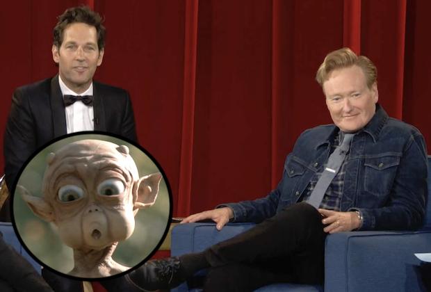 Paul Rudd Crashes Conan's Farewell Week, Reveals Mac and Me Origin Story