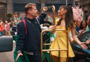 James Corden, Ariana Grande