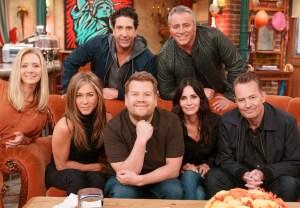 James Corden, Cast of 'Friends' in Central Perk