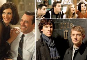 Best TV Apartments Friends Mad Men Sherlock