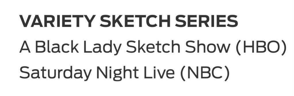 Emmys Variety Sketch Series