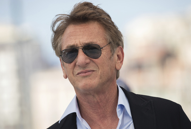 Sean Penn poses for photographers at the photo call for the film 'Flag Day' at the 74th international film festival, Cannes, southern France, Sunday, July 11, 2021. (Photo by Vianney Le Caer/Invision/AP)