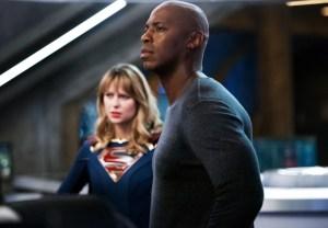 Mehcad Brooks and Melissa Benoist in Supergirl
