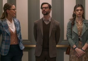 Melissa Benoist, Jason Behr and Nicole Maines in Supergirl Season 6