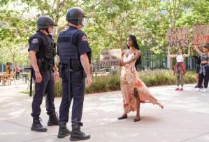 grown-ish, Black Lives Matter protest girl