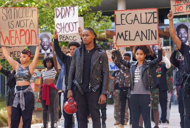 grown-ish, BLM protest