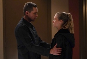 Jesse Lee Soffer and Tracy Spiridakos in Chicago P.D.