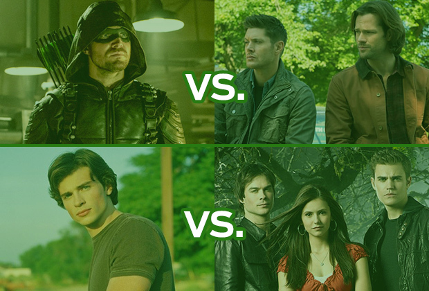 The CW's Greatest Present Ever Match: Closing 4 Pits Arrow vs. Supernatural, Smallville vs. Vampire Diaries — Vote!