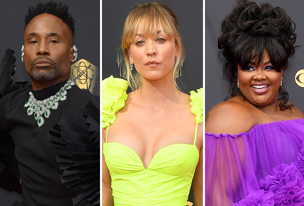 2021 Emmys Red Carpet Photos: TV Stars From Pose, The Crown and More