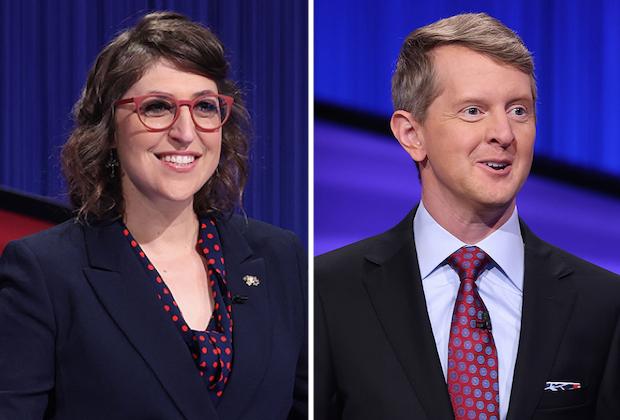 Jeopardy! Hosts Mayim Bialik and Ken Jennings