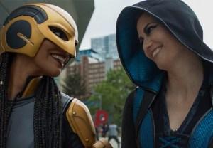 Azie Tesfai and Chyler Leigh in Supergirl Season 6