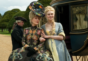 Gillian Anderson and Elle Fanning in The Great Season 2