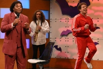 SNL Video: Jason Sudeikis Tracksuits Back Up for 'What Up With That?' -- With Oscar Isaac and 'Cousin Greg'